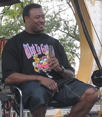 Willie McGinest - McGinest at the 2008 ESPN the Weekend event at Disney's Hollywood Studios