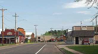 Willow River, Minnesota - Willow River at Pine County 61 and Main Street
