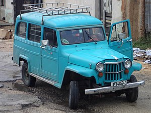 Willys Jeep Station Wagon - Willys Jeep Station Wagon taxi, Cuba.