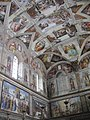 Window and Ceiling in Sistine Chapel - panoramio.jpg