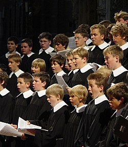 Choir boys in action