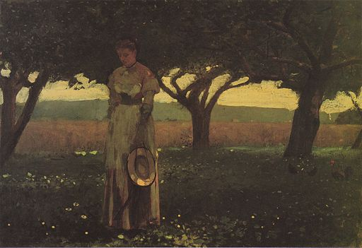 Winslow Homer - Girl in the Orchard (1874)