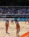 Women's beach volleyball, Horse Guards Parade London July 2011.jpg