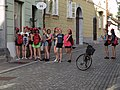 Women with pink bows in Ljubljana.jpg