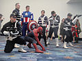 WonderCon 2012 - SHIELD, Captain America, and Spider-Man cosplayers (6873210586).jpg