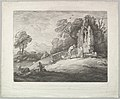 Wooded Landscape with a Peasant Reading a Tombstone, Rustic Lovers and a Ruined Church MET DP822093.jpg