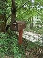 Wooden letter box, Berza Garden, 8 Borostyán Street, 2020 Érd.jpg