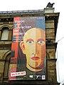 Wuppertal, Altes Elberfelder Rathaus, SW-Ecke, Ausstellungsplakat.jpg