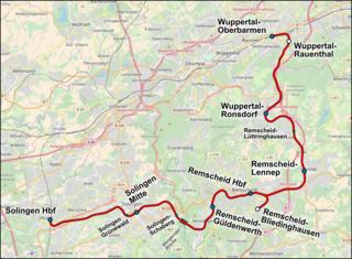 Wuppertal-Oberbarmen–Solingen railway railway line
