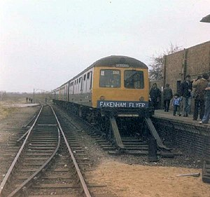 British Rail Class 105 - Class 105 set forming a charter at Fakenham East railway station, Norfolk.