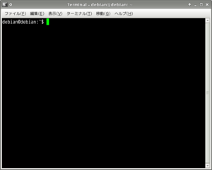 English: Xfce Terminal. on Debian Lenny. 日本語: ...