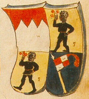 John III of Grumbach - Multiple prince-bishop's coat of arms in the Ingeram Codex
