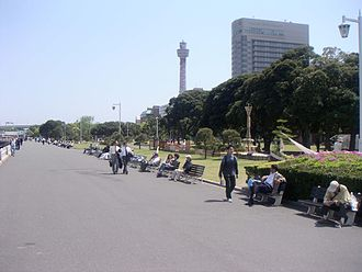 Naka-ku, Yokohama - Yamashita Park and Yokohama Marine Tower