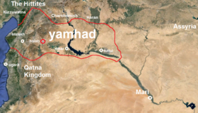 Yamhad Kingdom at its Greatest Boundaries During the Reign of abba-ell.png