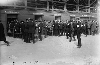 1923 World Series - Fans entering Yankee Stadium before Game 1 of the World Series.