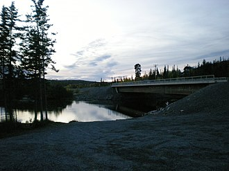 Ingraham Trail - Ingraham Trail crossing the Yellowknife River