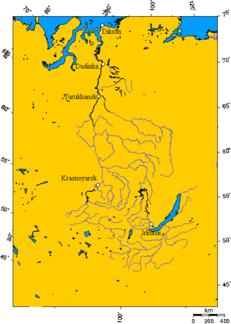 Turukhansk - The Yenisei River basin