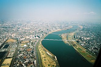 Yodo River - Yodo River in north Osaka