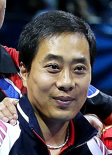 Yoo Nam-kyu South Korean table tennis player