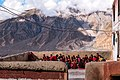 Young monks pray before breakfast at Key monastery, Spiti Valley.jpg