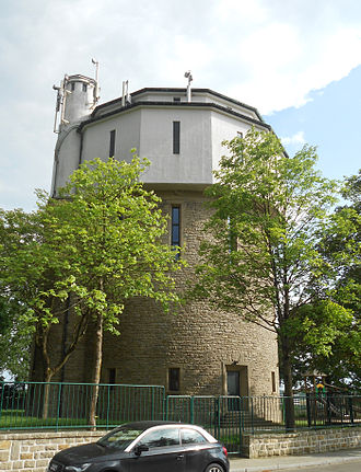 Cessange - Image: Zéisseng Cessange Waassertuerm Water Tower June 2012