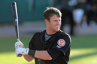 Zack Cozart - Cozart playing for the Louisville Bats, Triple-A affiliates of the Reds, in 2010.