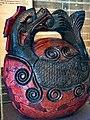 Zen Buddhist Mokugyo wooden lacquered Fish Drum 19th century Ce Japan Penn Museum.jpg