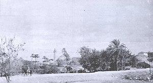 Zir'in - General view of Zir'in with its mosque in background, 1918