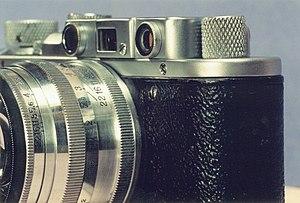 Zorki - Zorki with Jupiter-8 lens mounted.