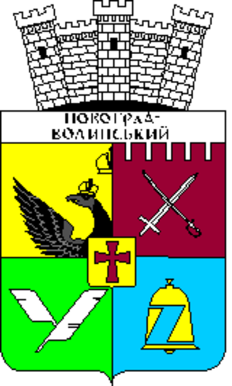 Division of the field - Coat of arms of Novohrad-Volynskyi