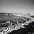 """""""מכמורת"""" - העליה למכמורת- צעירים רוכבים על שפת-הים בכוון הנקודה החדשה.-JNF002660.jpeg"""