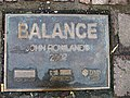 """Balance"" plaque, Market Street, Omagh - geograph.org.uk - 1010995.jpg"