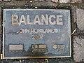 """Balance"" plaque, Market Street, Omagh - geograph.org.uk - 1010995.jpg"
