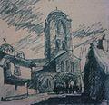 'Saint Premte' drawing, 1930, 25 x 40.JPG
