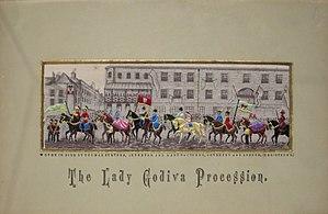Stevengraph - 'The Lady Godiva Procession' by Thomas Stevens