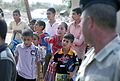 'Vanguard' Battalion soldiers help 9th Iraqi Army Division put smiles on childrens' faces at school supply drop DVIDS467706.jpg