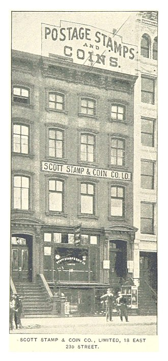 Scott catalogue - Image: (King 1893NYC) pg 874 SCOTT STAMP & COIN COMPANY LTD., 18 EAST 23D STREET