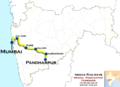 (Mumbai - Pandharpur) Passenger route map.png