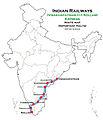 (Visakhapatnam - Kollam) Express Route map.jpg