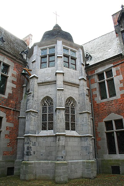 Écaussinnes-d'Enghien  (Belgium), the St-Christopher Chapel -  « la Follie » castle (XVIth century).