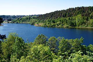 Østensjøvannet lake in Norway