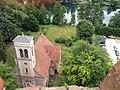 Łagów-Kościół Jana Chrzciciela,widok z wieży zamku joannitów.jpg
