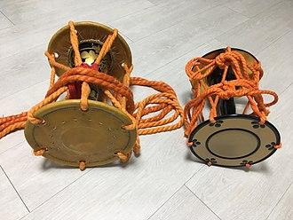 Ōtsuzumi - An ōtsuzumi(left) compared to a kotsuzumi(right)