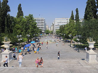 Syntagma Square - Syntagma Square as seen from Amalias Avenue in 2015