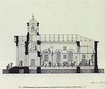 А. М. Байков. Чертеж с разрезами лютеранской церкви. Фрагмент.jpg