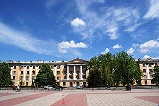 Lysychansk City in Luhansk Oblast, Ukraine
