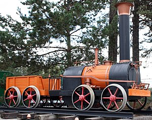 2-2-0 - Model (2002) of the steam locomotive constructed in Russia by the Cherepanovs (1834)