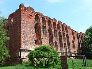 Neman, Russia - Castle ruins