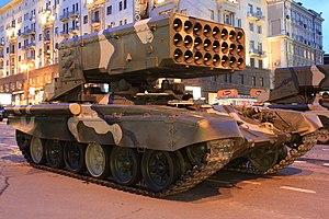 Pháo phản lực TOS-1 trong một cuộc diễu binh ở Quảng trường Đỏ