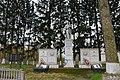 Щаслива, Братська могила воїнів загиблих при звільненні села і пам'ятник воїнам – односельчанам.jpg